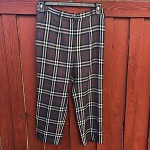 Vintage high waist plaid golf pants trousers